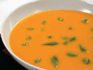 Soupe carottes et haricots verts