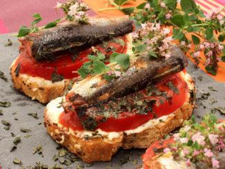 Tartines de Sardine au Four