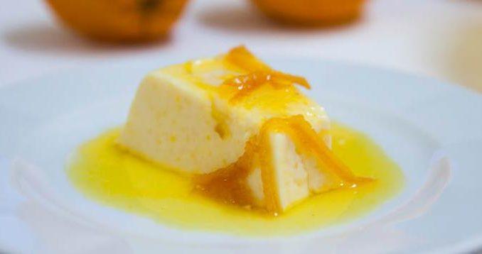 Pudding à l'orange